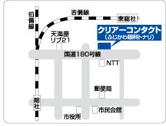 クリアーコンタクト総社店の地図